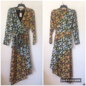 Maje Dresses - Maje Roen floral wrap midi dress